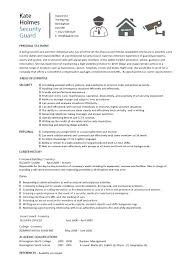 Security Job Resume Musiccityspiritsandcocktail Com