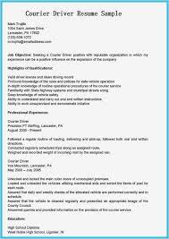 Driver Sample Cv Professional Truck Driver Resume Template Resume
