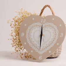 wooden wall clock heart clock pine wall decoration for smart home wedding gifts for guests 10 23 x 10 62 inch wall kitchen clocks wall mounted clocks from