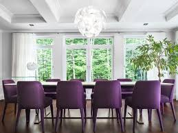 amazing purple chair idea for dining room
