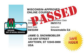 com™ Snowmobile-ed Snowmobile Wisconsin Course Official Safety
