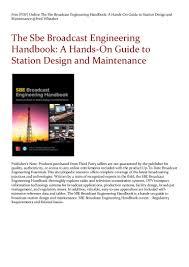 Engineering Design Handbook Pdf Free Pdf Online The Sbe Broadcast Engineering Handbook A