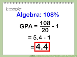 Gpa Chart 5 0 Scale How To Convert A Percentage Into A 4 0 Grade Point Average