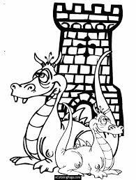 Small Picture Castle Coloring Pages Printables dragons and castle coloring