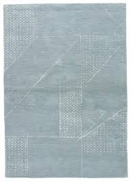blue haze pastel blue hand tufted wool art silk rug