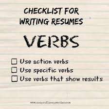 A Resume Writing Guide To Using Verbs Howtos For Words That Show