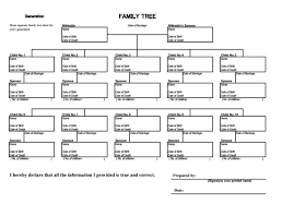 Sample Of Family Tree Chart 11 10 Generation Family Tree Templates Pdf Free