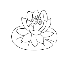 Small Picture Water Lily Over Lily Pad Coloring Page Color Luna