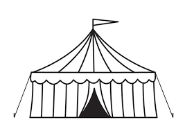 Small Picture Coloring page circus tent img 23160