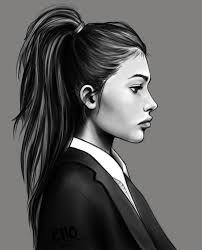 Side profile of a girl
