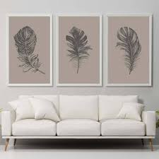 fresh ideas feather wall art simple design decor set of 3 print feathers brown like this item panels diy target australia on feather wall art australia with fresh ideas feather wall art simple design decor set of 3 print