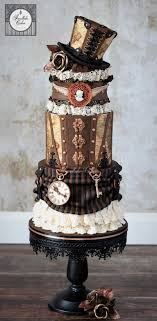 Top Hat Cake Designs Steampunk Cake With Top Hat Cakes Steampunk Wedding Cake