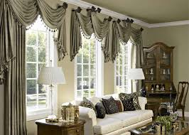Living Room Curtain Sets Elegant Window Treatments Arched Window Rods Sets Ideas For