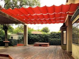 deck shade structures pergolas red rectangle modern canvas backyard stained ideas shades stunning structure plans backyard wooden shade structures