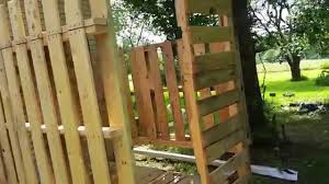 Outdoor Shower Outdoor Shower Made From Pallets Youtube