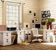 neutral office decor. charming framed wall art for home office decor and awesome l shaped desk with file cabinets neutral
