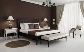 brown wall color bedroom wall design with color