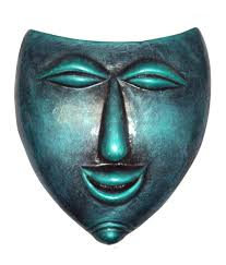 Decorative Face Masks Hand Art Home Decorative Terracotta Wall Hanging Laughing Face 75