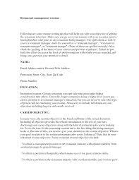 Restaurant Resume Objective Statement Resume For Study