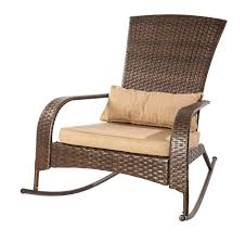 patio flare collection one wicker muskoka rocking chair brown canada