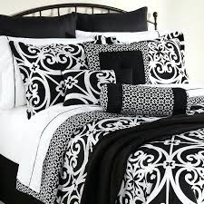 black and white damask comforter piece bed set king size black white damask comforter sheets intended