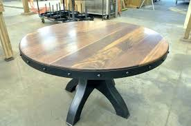 round industrial dining table industrial round adjule gathering or dining table industrial round dining table industrial