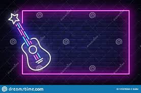 Light Rock Music Rock Music Neon Sign Vector Neon Frame Rock Star Design