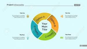 Pie Chart With Four Elements Diagram Option Graph Layout