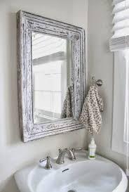 Shabby Chic Bathroom Modern Shabby Chic Bathroom Frameless Glass Rectangle Wall Mirror
