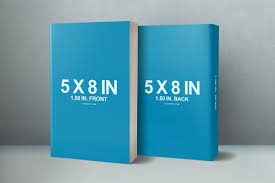 6 x 9 book series presentation mockup 5 x 8 front back cover paperback mockup