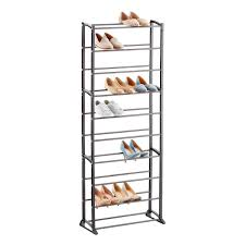 Shoe Organizer Gunmetal 30 Pair Shoe Rack The Container Store