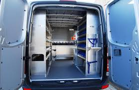 aluminum plumbing shelving package for sprinter van
