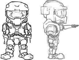 Small Picture Halo 5 Coloring Pictures Halo game gun magnum Fierce halo