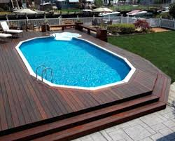 above ground swimming pool steps deck how to come up with decks pools large cascading