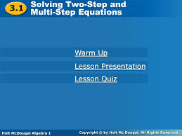 ppt solving two step and multi step