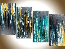 prints for office walls. Meteor Shower Ii By Qiqigallery 48x24 Original Modern Abstract Free Flow Acrylic Art Office Wall Canvas Officeworks Prints For Walls N