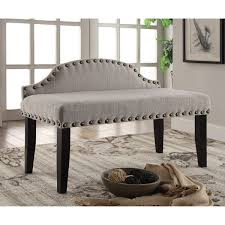 edgy furniture. furniture of america emira 42inch flax upholstered accent bench edgy o