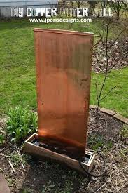 diy water wall outdoor copper water wall diy stone wall water feature