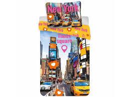 new york times square duvet cover single 140 x 200 cm multi