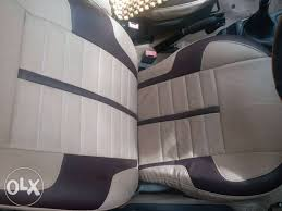 show only image white and black car seat