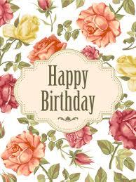 Elegant Birthday Rose Card Birthday Greeting Cards By Davia