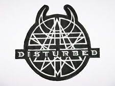 <b>DISTURBED Logo</b> Iron On Sew On Embroidered <b>Metal Band</b> Patch ...