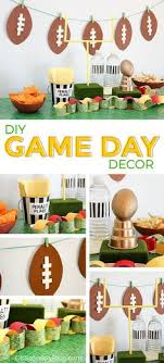Homemade Super Bowl Decorations Football party idea The yellow posterboard and yellow balloons 10