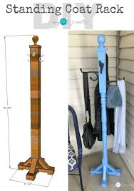 How To Make A Standing Coat Rack Gorgeous Standing Coat Rack Remodelaholic Contributors Pinterest
