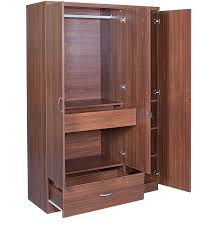 ultima three door wardrobe with mirror in walnut colour