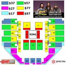 Salina Bicentennial Center Seating Chart Events Wwe Live Road To Wrestlemania Tonys Pizza Events