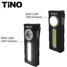 Nebo Tino Work Light Nebo Tino Work Light Flashlight 300 Lumen Led With Magnetic Base Bundle Includes 6 Nebo Aaa Batteries Black