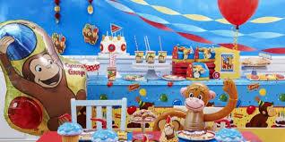 curious george party birthday boys themes , 1st decoration ideas for boys.