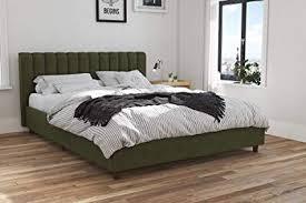 Upholstered platform bed frame Cool Queen Bed Image Unavailable Walmart Amazoncom Novogratz 4193939n Brittany Upholstered Bed Queen