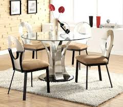 elegant round glass dining room sets and oak table set dinner 6 chairs